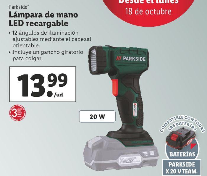 Oferta de Lámparas Parkside por 13,99€
