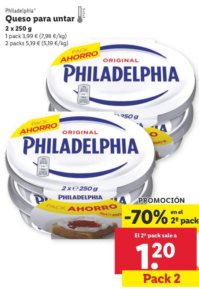 Oferta de Queso de untar Philadelphia por 3,99€
