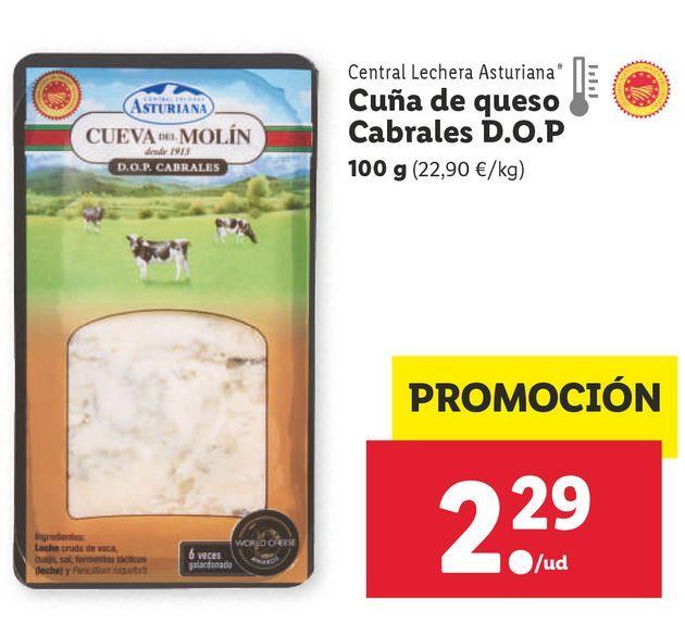 Oferta de Queso Central Lechera Asturiana por 2,29€