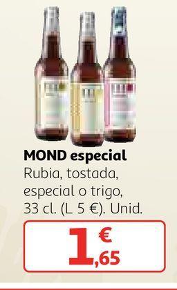 Oferta de Cerveza especial por 1,65€