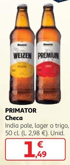 Oferta de Cerveza checa por 1,49€
