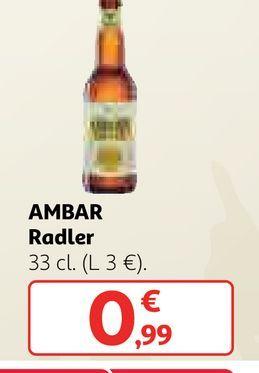 Oferta de Cerveza ambar por 0,99€