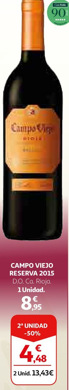 Oferta de Vino tinto Campo Viejo por 8,95€