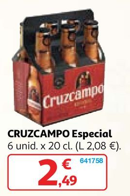 Oferta de Cerveza especial Cruzcampo por 2,49€