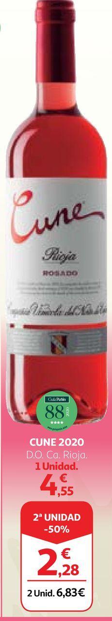Oferta de Vino rosado Cune por 4,55€