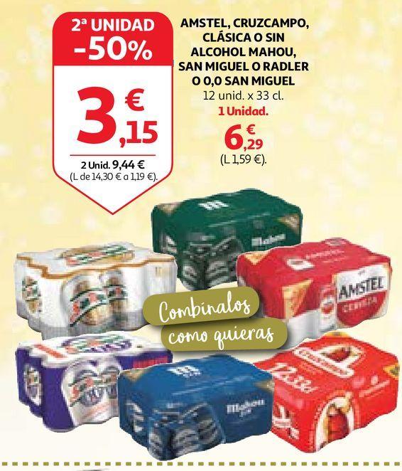 Oferta de Cerveza Mahou por 6,29€