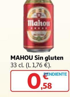 Oferta de Cerveza sin gluten Mahou por 0,58€