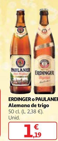Oferta de Cerveza alemana Erdinger por 1,19€