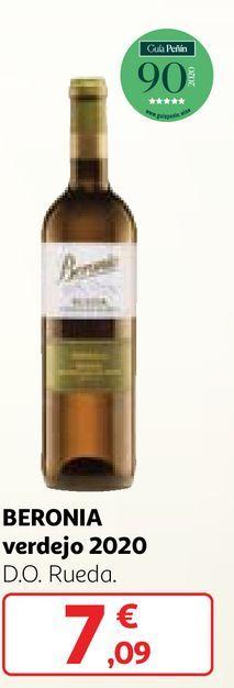 Oferta de Vino verdejo Beronia por 7,09€