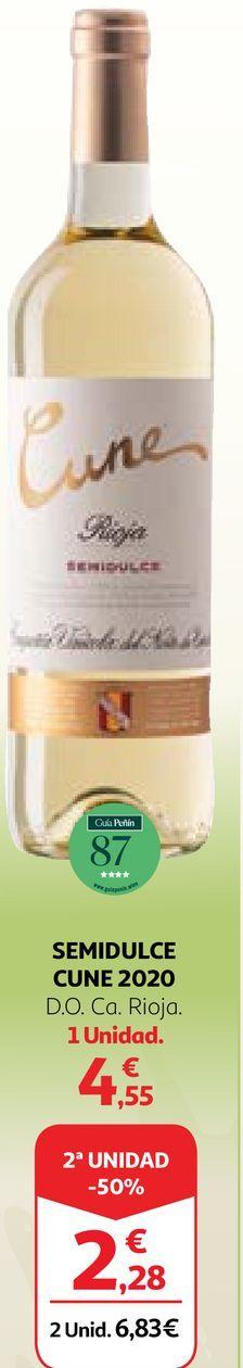 Oferta de Vino semidulce Cune por 4,55€