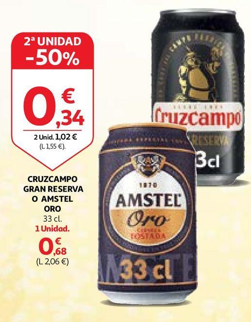 Oferta de Cerveza Cruzcampo por 0,68€