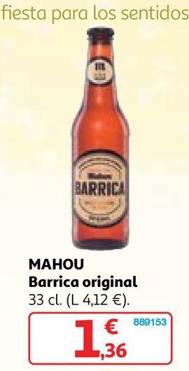 Oferta de Cerveza de barril Mahou por 1,36€