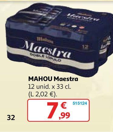 Oferta de Cerveza Mahou por 7,99€