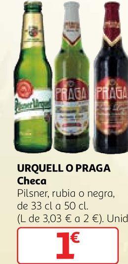 Oferta de Cerveza checa por 1€