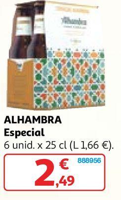 Oferta de Cerveza especial Alhambra por 2,49€