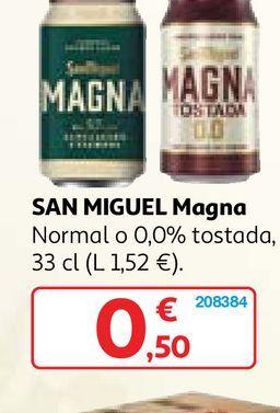 Oferta de Cerveza San Miguel por 0,5€