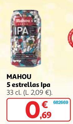 Oferta de Cerveza Mahou por 0,69€