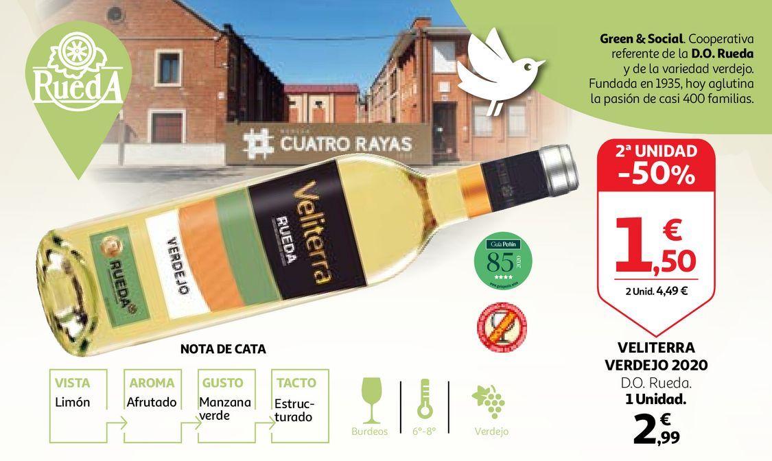 Oferta de Vino verdejo Veliterra por 2,99€