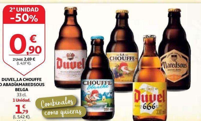 Oferta de Cerveza belga Duvel por 1,79€