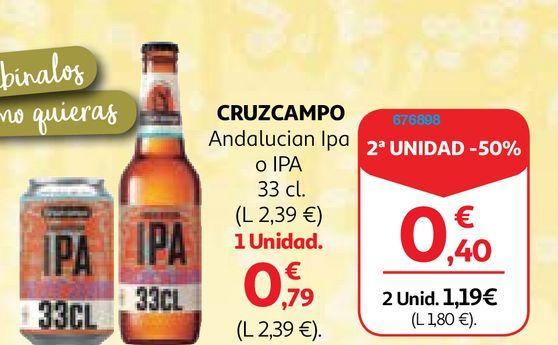 Oferta de Cerveza Cruzcampo por 0,79€