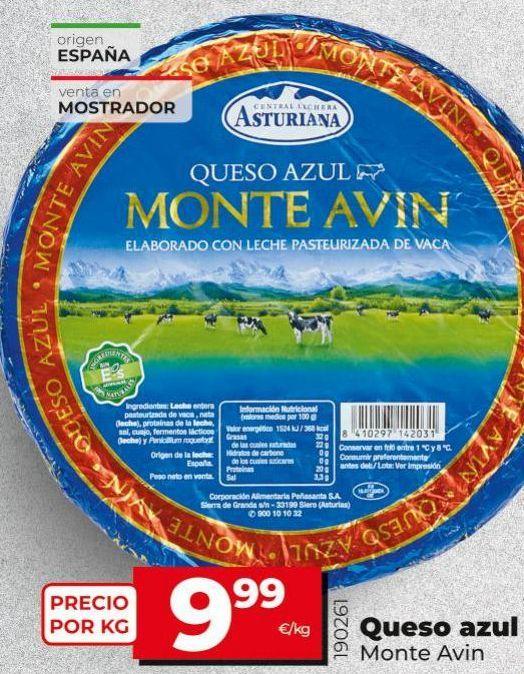 Oferta de Queso azul Central Lechera Asturiana por 9,99€