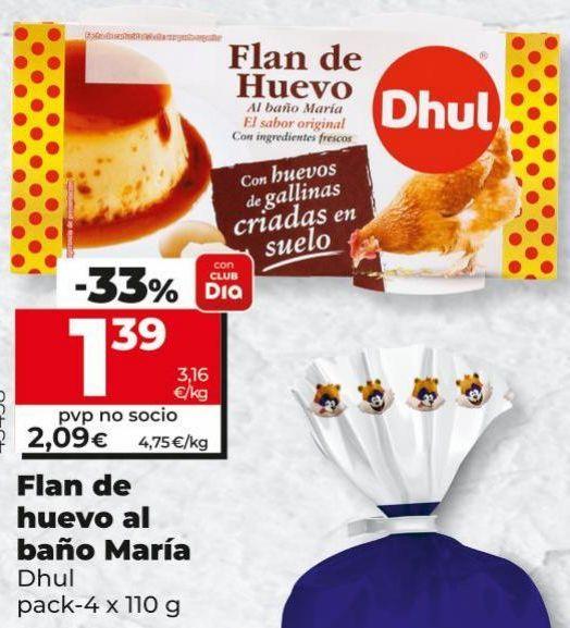 Oferta de Flan de huevo Dhul por 1,39€