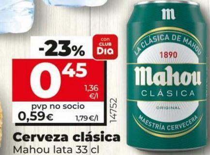 Oferta de Cerveza Mahou por 0,45€