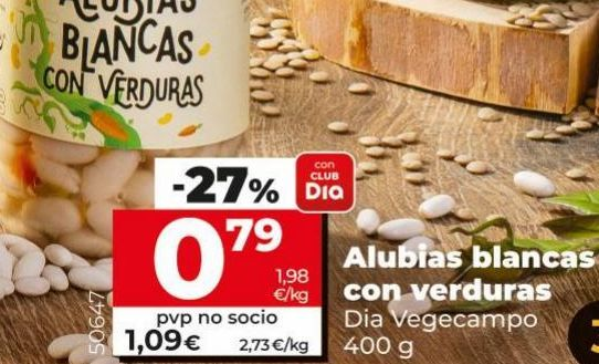 Oferta de Alubias Dia por 0,79€