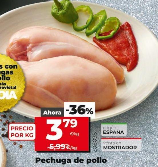 Oferta de Pechuga de pollo por 3,79€
