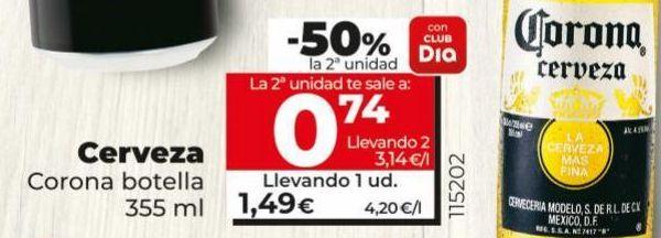 Oferta de Cerveza Corona por 1,49€