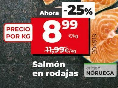Oferta de Rodajas de salmón por 8,99€