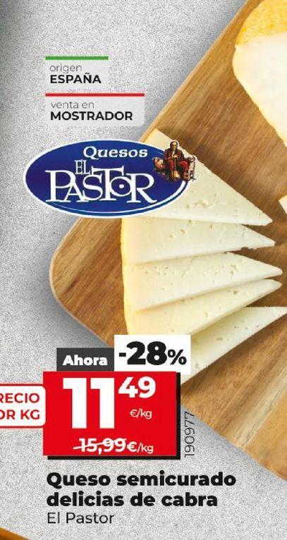 Oferta de Queso semicurado delicias de cabra  El Pastor por 11,49€