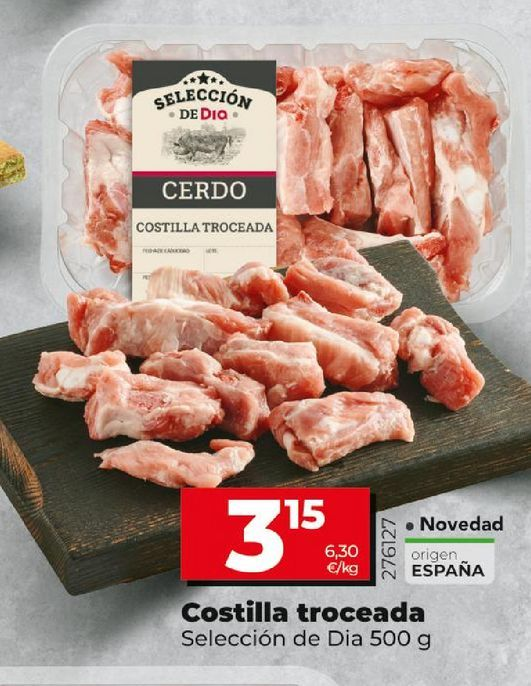 Oferta de Costillas troceadas por 3,15€