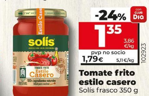 Oferta de Tomate frito estilo casero Solís frasco por 1,35€