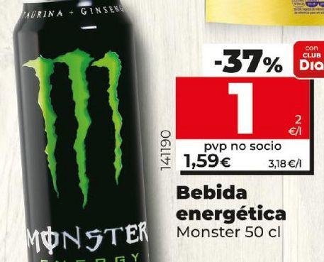 Oferta de Bebida energética Monster por 1€