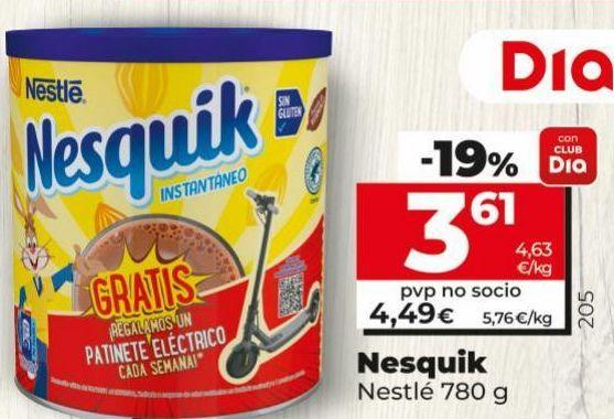 Oferta de Cacao soluble Nesquik por 3,61€
