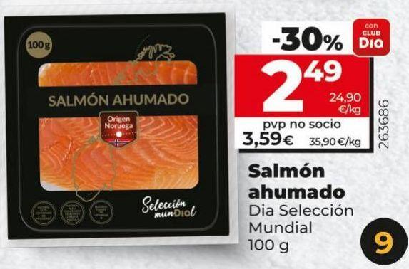 Oferta de Salmón ahumado por 2,49€