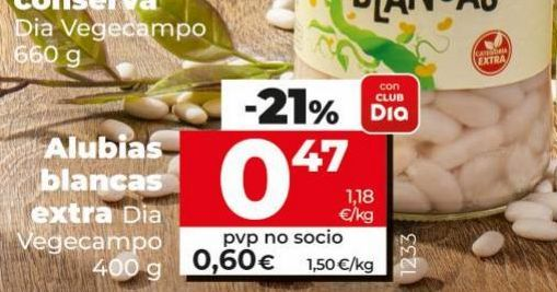 Oferta de Alubias Dia por 0,47€