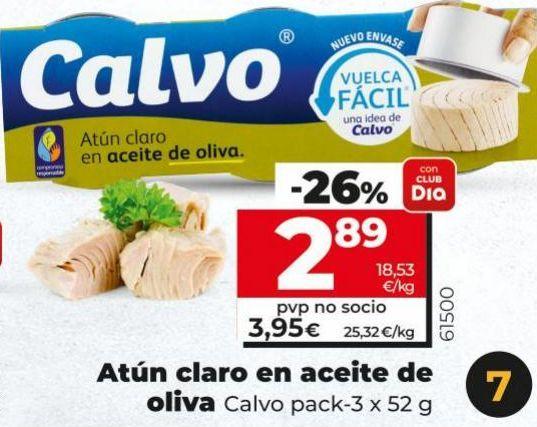 Oferta de Atún claro Calvo por 2,89€