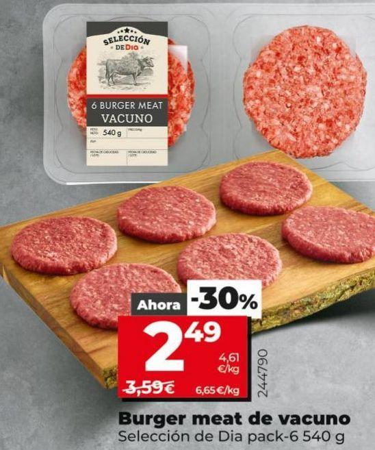Oferta de Hamburguesas por 2,49€