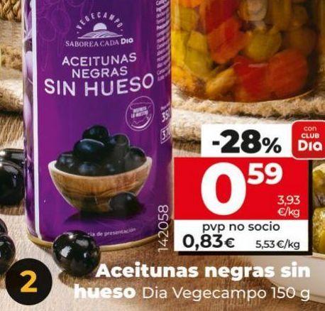 Oferta de Aceitunas negras Dia por 0,59€