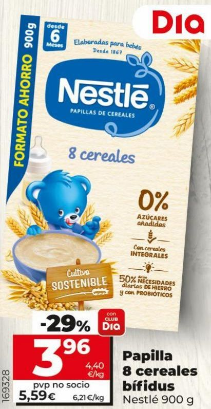Oferta de Papilla de cereales Nestlé por 3,96€