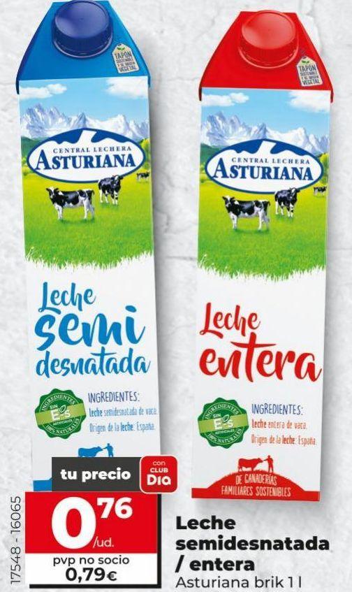 Oferta de Leche entera Central Lechera Asturiana por 0,76€