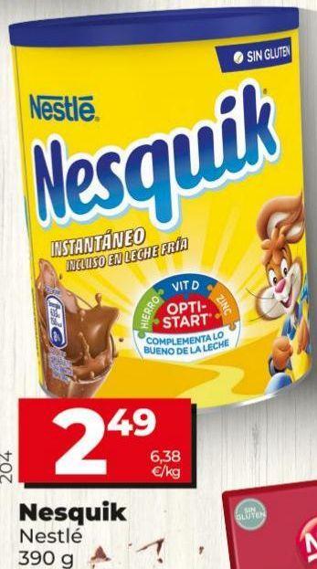 Oferta de Cacao soluble Nesquik por 2,49€