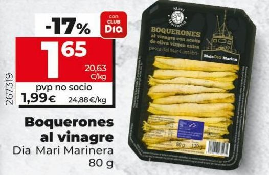 Oferta de Boquerones en vinagre por 1,65€