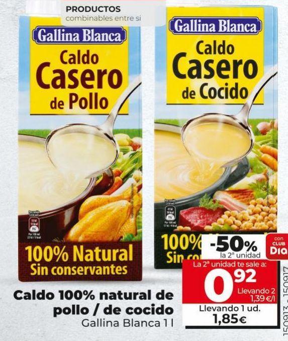 Oferta de Caldo de pollo Gallina Blanca por 1,85€