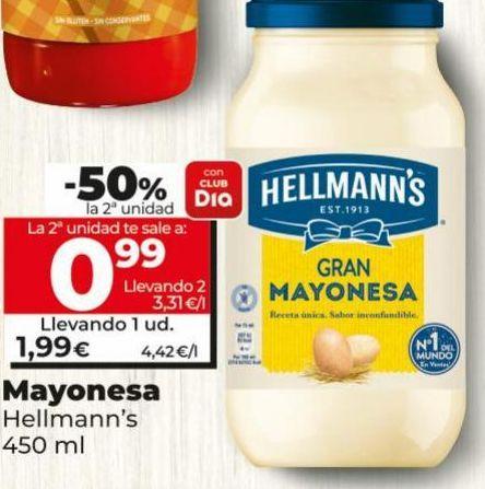 Oferta de Mayonesa Hellmann's por 1,99€