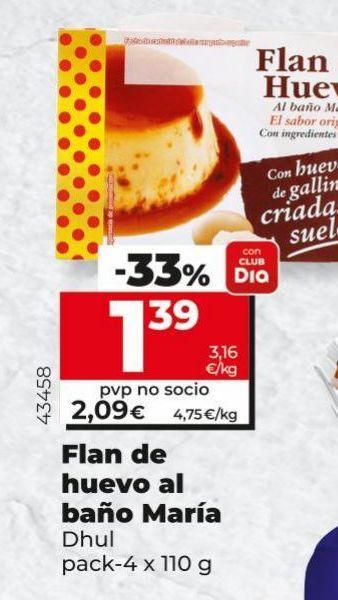 Oferta de Flan de huevo Dhul por 2,09€