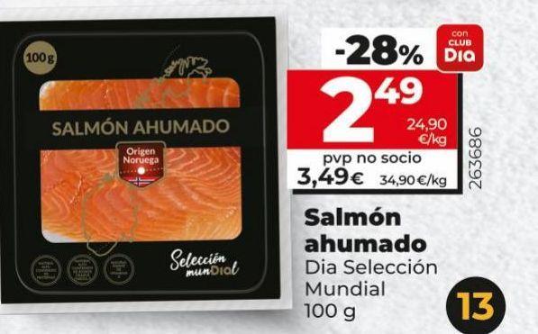 Oferta de Salmón ahumado Dia por 3,49€
