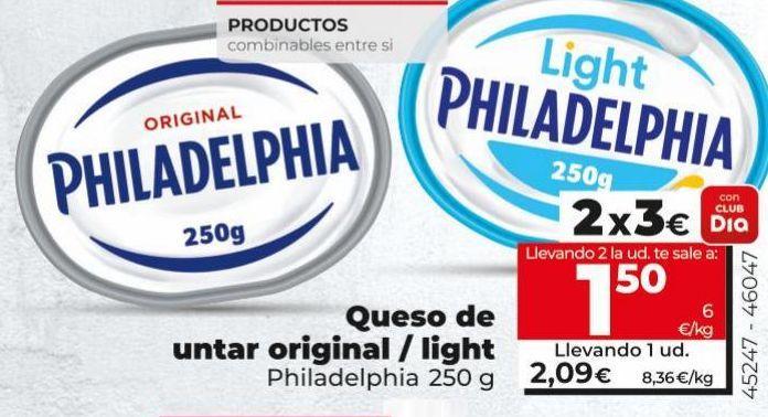 Oferta de Queso de untar Philadelphia por 2,09€